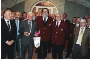 Parma 16/05/08. Il Maestro GB Ugolotti fra il Presidente del 'Club dei 27' Giovanni Reverberi (Trovatore) e il Presidente del 'Mariotti' Franceco Stola (a destra)