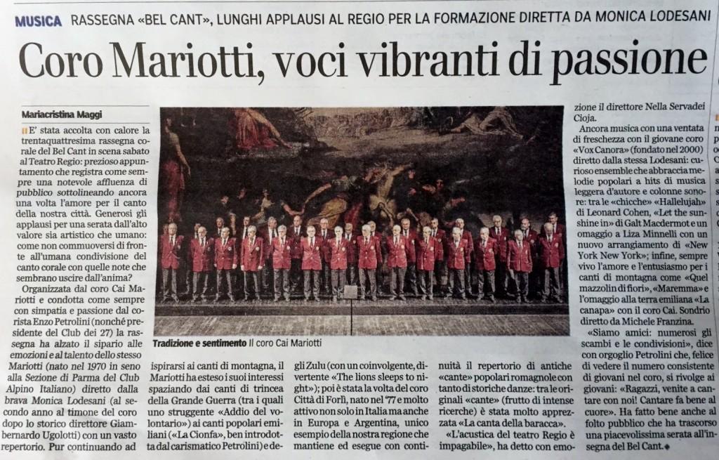 Dalla Gazzetta di Parma del 9 novembre 2015
